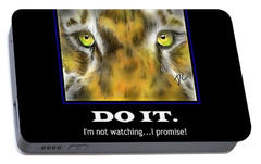 Portable Battery Charger featuring the digital art Do It Motivational by Darren Cannell