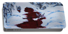 Portable Battery Charger featuring the painting Do Not Go Gentle by Stanza Widen
