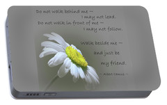 Portable Battery Charger featuring the mixed media Walk Beside Me by Movie Poster Prints