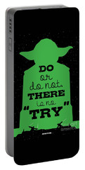 Do Or Do Not There Is No Try. - Yoda Movie Minimalist Quotes Poster Portable Battery Charger