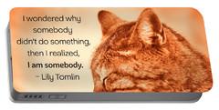 Do Something - Orange Cat Portable Battery Charger
