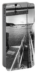 Portable Battery Charger featuring the photograph Dock, Port Clyde, Maine  -2043-ip-bw by John Bald