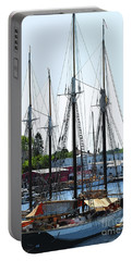 Docked Masts Portable Battery Charger by Kirt Tisdale
