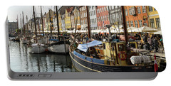 Dockside At Nyhavn Portable Battery Charger by Eric Nielsen
