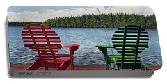 Dockside Portable Battery Charger by Kenneth M  Kirsch