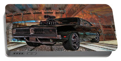 Portable Battery Charger featuring the photograph Dodge Charger R/t 1969 Hemi by Louis Ferreira
