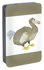 Portable Battery Charger featuring the painting Dodo Bird Protrait by Thom Glace