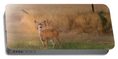 Doe At Sunset Portable Battery Charger
