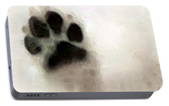 Dog Art - I Paw You Portable Battery Charger by Sharon Cummings
