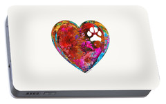 Dog Art - Puppy Love 2 - Sharon Cummings Portable Battery Charger by Sharon Cummings