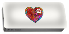 Dog Art - Puppy Love 2 - Sharon Cummings Portable Battery Charger