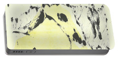 Dog At The Beach - Black Ivory 1 Portable Battery Charger