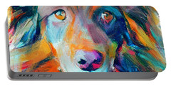 Dog Colorful Portrait Portable Battery Charger
