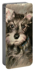 Dog In Blue Collar Portable Battery Charger