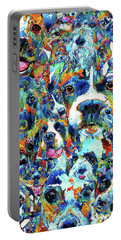Portable Battery Charger featuring the painting Dog Lovers Delight - Sharon Cummings by Sharon Cummings