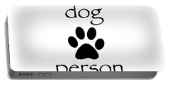 Dog Person Portable Battery Charger by Bill Owen