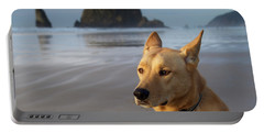 Dog Portrait @ Cannon Beach Portable Battery Charger