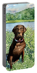 Dog Portrait #1 Portable Battery Charger