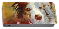 Dog Portrait Portable Battery Charger