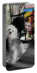 Doggie In The Patio Painting Portable Battery Charger
