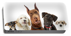 Dogs Of Various Sizes Close-up Web Banner Portable Battery Charger