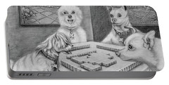Dogs Playing Mahjong Portable Battery Charger
