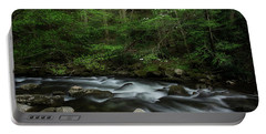 Portable Battery Charger featuring the photograph Dogwood Along The River by Mike Eingle