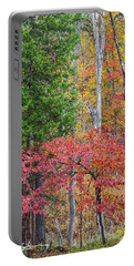 Dogwood And Cedar Portable Battery Charger by Tim Fitzharris