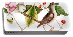 Dogwood  Cornus Florida, And Mocking Bird  Portable Battery Charger