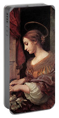 Dolci Carlo St Cecilia At The Organ Portable Battery Charger by Carlo Dolci