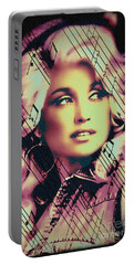 Dolly Parton - Digital Art Painting Portable Battery Charger
