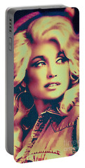 Dolly Parton - Vintage Painting Portable Battery Charger