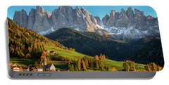 Dolomite Village In Autumn Portable Battery Charger