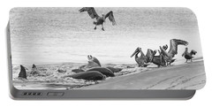 Dolphin And Pelican Party Portable Battery Charger