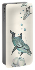 Dolphin And Two Friends Portable Battery Charger