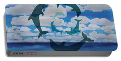 Dolphin Cloud Dance Portable Battery Charger