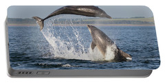 Dolphins Having Fun Portable Battery Charger