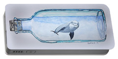 Dolphin In A Bottle Portable Battery Charger by Edwin Alverio
