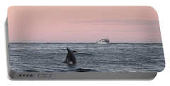 Dolphins At Play Portable Battery Charger by Robert Banach