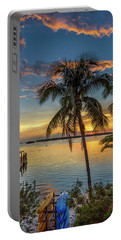 Portable Battery Charger featuring the photograph Dolphins In San Carlos Bay by Steven Sparks