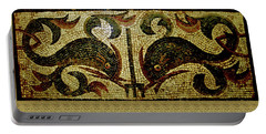 Dolphins Of Pompeii Portable Battery Charger