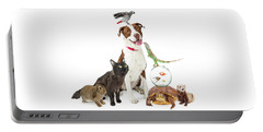 Domestic Pets Group Together With Copy Space Portable Battery Charger