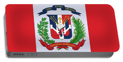 Portable Battery Charger featuring the drawing Dominican Republic Coat Of Arms by Movie Poster Prints