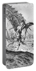 Don Quixote And The Windmills Portable Battery Charger