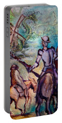 Don Quixote With Dragon Portable Battery Charger