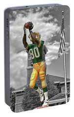 Portable Battery Charger featuring the photograph Donald Driver Statue by Joel Witmeyer