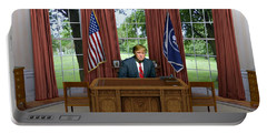 Donald Trump In The Oval Office Portable Battery Charger