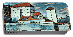 Donau, Passau, Germany Portable Battery Charger by Jim Pavelle