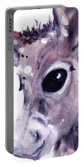 Portable Battery Charger featuring the painting Donkey by Dawn Derman