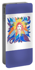 Donna Soul Portrait Portable Battery Charger